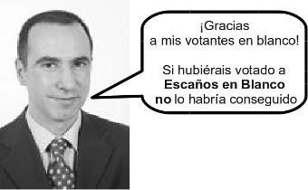 Juan Carlos Corcuera, votantes en blanco