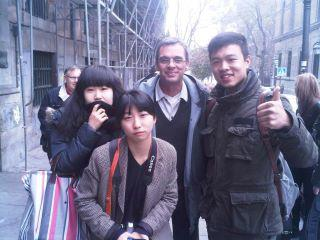 Foto con coreanos